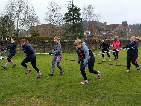 Band run outdoor fitness training at Wild Revive in the New Forest