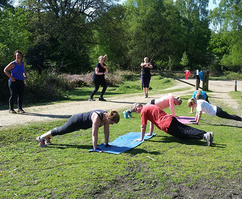 Wild Revive group fitness training in the New Forest near Ringwood Hampshire